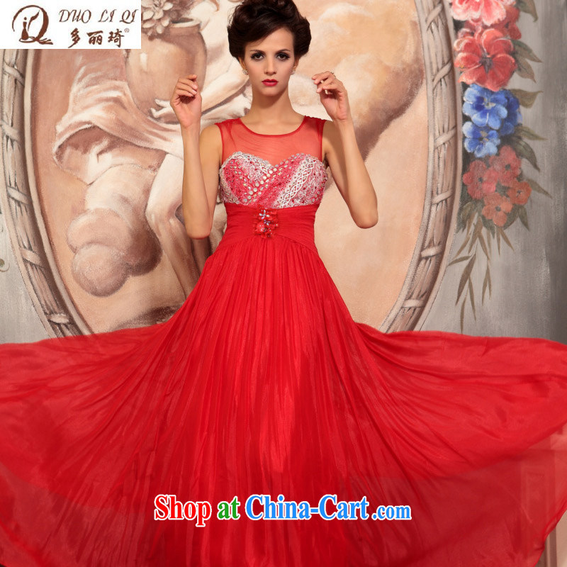 Multi-LAI Ki Europe Evening Dress bridal red only American atmospheric dress wedding toast clothing dress red XXL