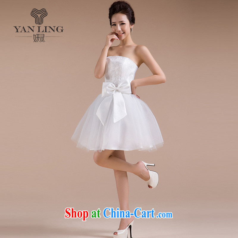 2015 new sister's multi-colored beauty happy sexy sweet romantic wedding small wedding dresses bridesmaid dress LF - 70 white XXL