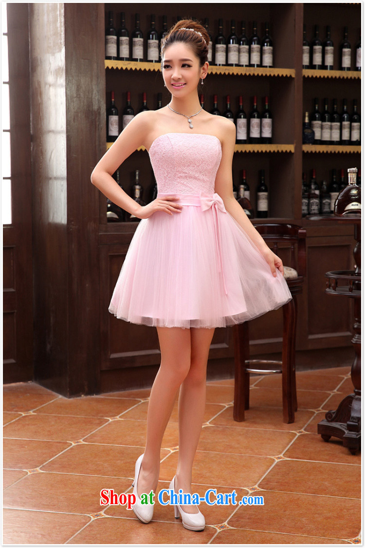 2014 lace wedding dresses short bridesmaid marriage mission tied with short Evening Dress wedding dress small special LF 112 white XXL pictures, price, brand platters! Elections are good character, the national distribution, so why buy now enjoy more preferential! Health