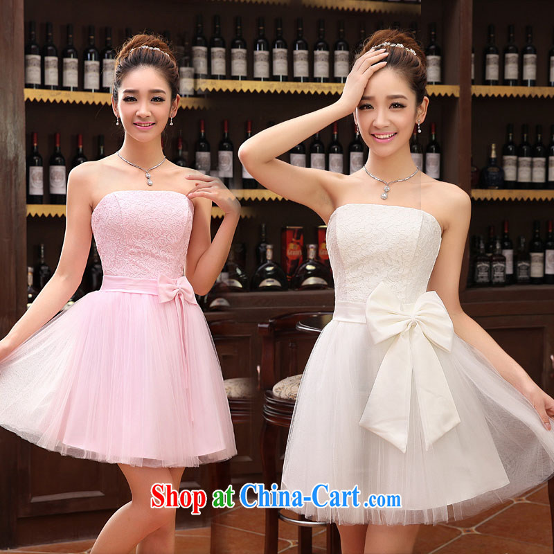 2014 lace wedding dresses short bridesmaid marriage mission tied with short, Evening Dress wedding dress small special LF 112 white XXL