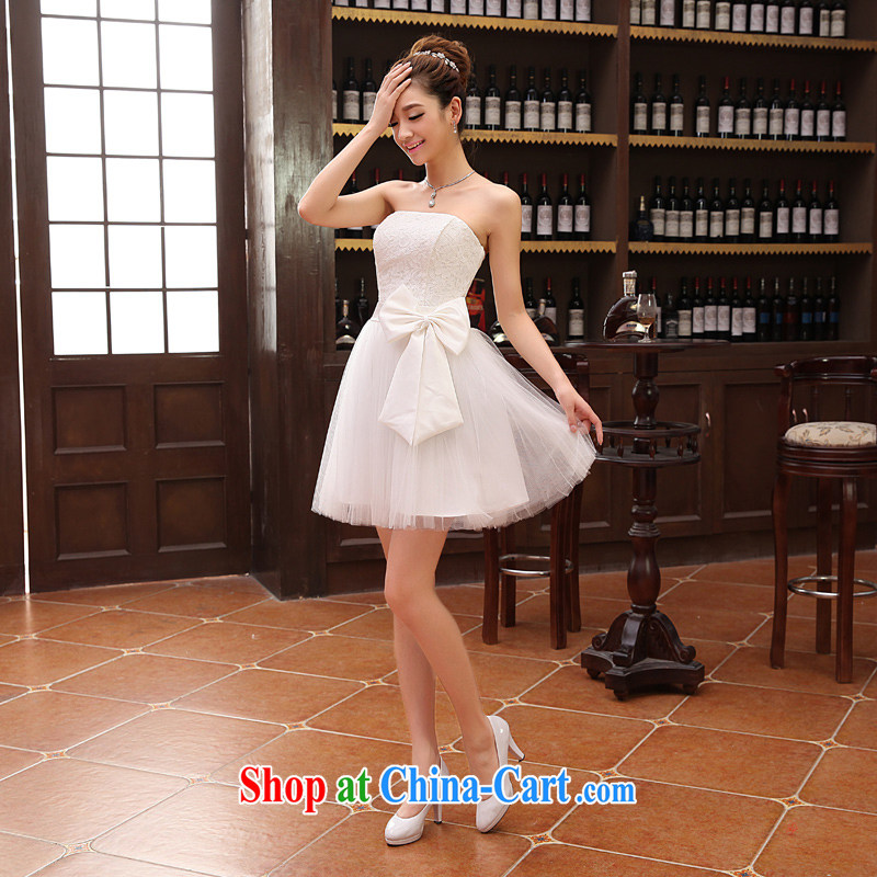 2014 lace wedding dresses short bridesmaid marriage mission tied with short, Evening Dress wedding dress small special LF 112 white XXL, her spirit, and shopping on the Internet