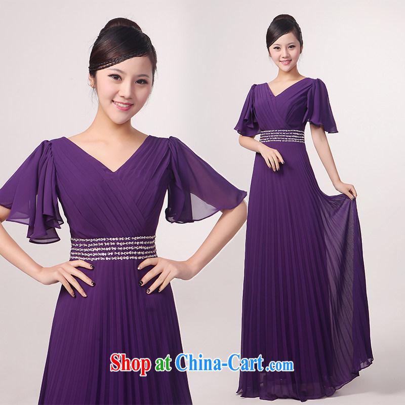 Her spirit winter flouncing long sleeves, large choir uniforms chorus clothing women dress in older chorus uniforms Custom Blue XXXL, her spirit (Yanling), online shopping