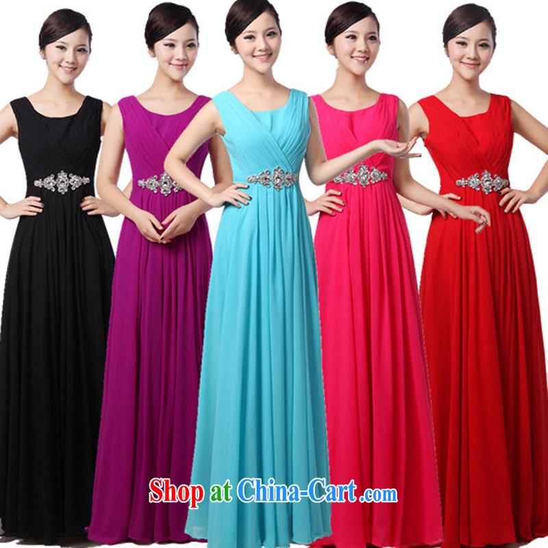 Her spirit 2015 New Long dress chorus serving women long skirt chorus clothing women dress clothes show black XXXXL