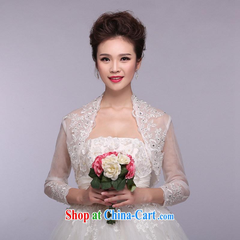 Hi Ka-hi 2015 new white bridal shawls long-sleeved parquet drill embroidery lace thin NJ 05 white are code