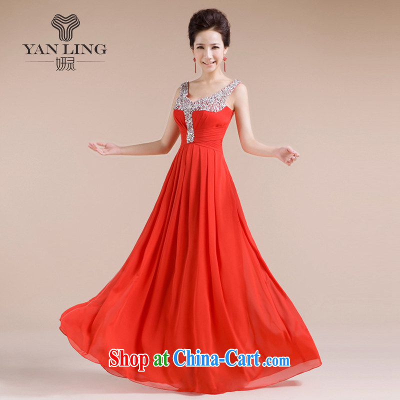 20152014 new bridal wedding dress evening gown serving toast LF - 1005 red XXL