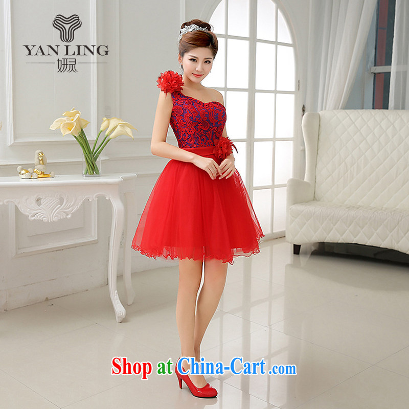 2015 new water-soluble lace canopy canopy by the shoulder show bridal toast fall serving LF 183 red XXL