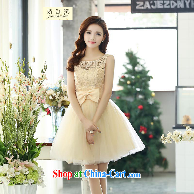 Air Shu Diane 2015 New Red bridal lace wedding wedding small dress dresses short bows service bridesmaid with white XL