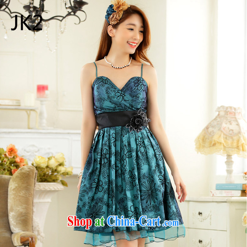 Annual sweet dress and elegant value V lint-free cloth for lifting with the waist skirt in small dress dresses (take to remove) JK 2 green XXXL