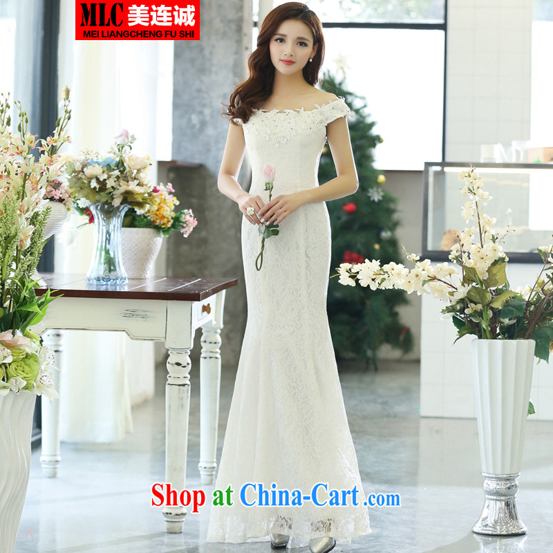 Even the US and 2015 new Korean fashion beauty dress marriages long bows service banquet moderator Tuxedo white S