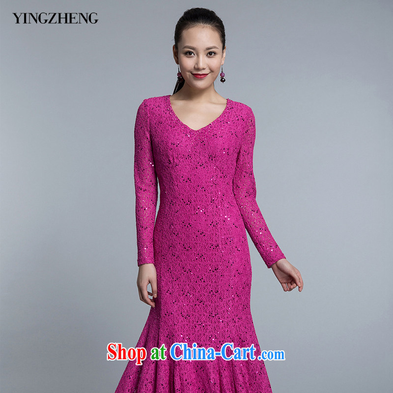 YINGZHENG usher the dresses dress ceremony at Merlion dress lace NS 513470810 The Pink 42 (170 /92 A)