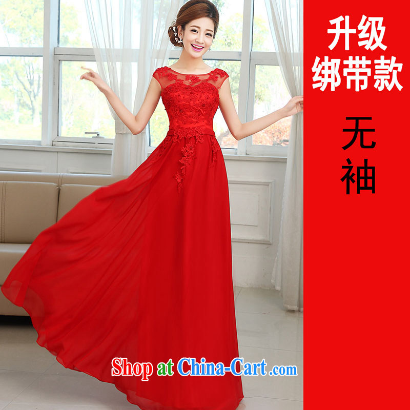 married love toast Service Bridal 2014 new wedding dresses red long paragraph in marriage cuff bridesmaid clothing, dress winter red sleeveless?XXL