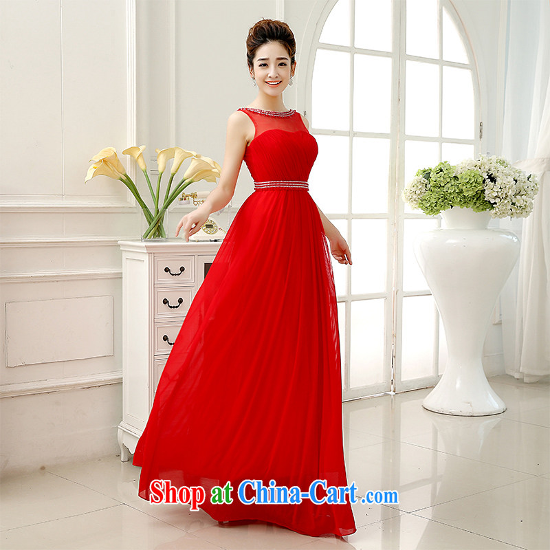 married love toast Service Bridal Fashion 2014 new wedding dresses Red double-shoulder-length, wedding dress the autumn and winter red XL