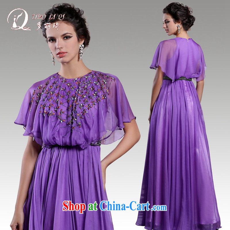More LAI Ki 2015 Evening Dress bat sleeves beauty long gown annual dress upscale moderator dress light purple S