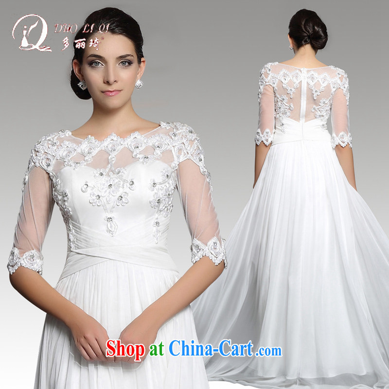More LAI Ki wedding dresses 2015 white long lace wedding dresses wedding clothes white XXL