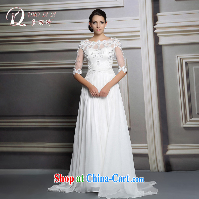 Multi-LAI Ki wedding dresses 2015 white long lace wedding dresses wedding ceremony service white XXL, Li Qi (Doris dress), and, on-line shopping