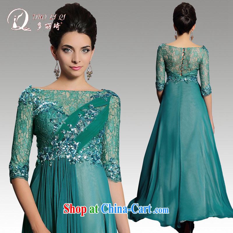More LAI Ki Annual Meeting 2015 dress green long, annual company tail Bluetooth evening gown dress green XXL
