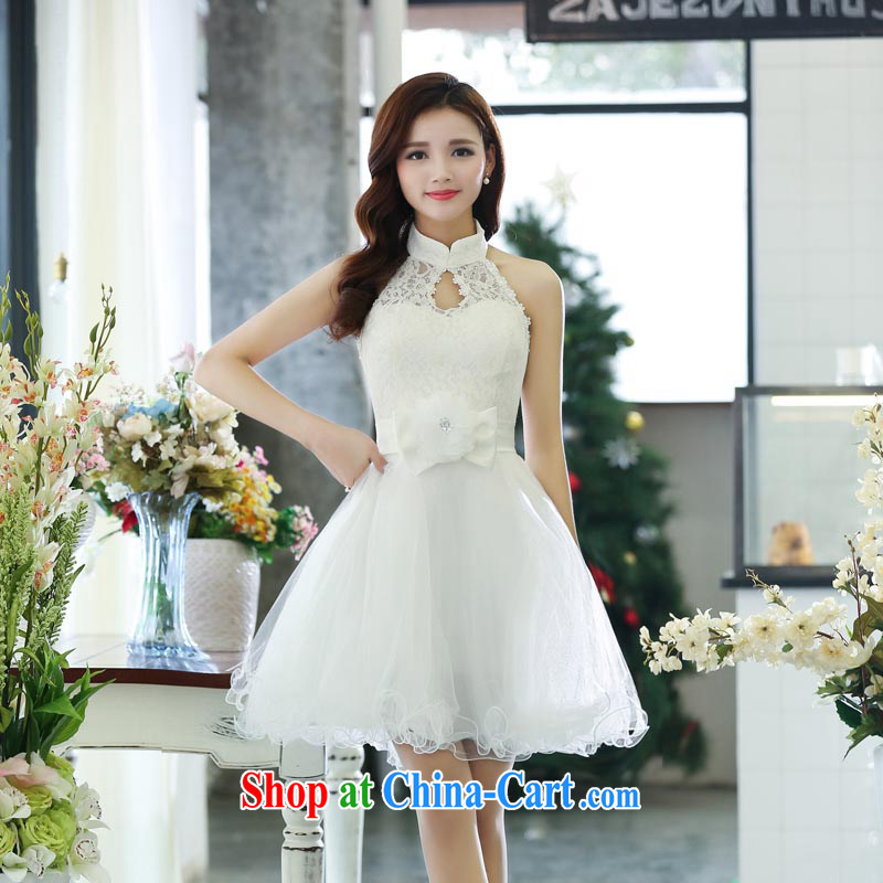 Arrogant season autumn 2015, accompanied by his mother, short skirts autumn and winter new special bride's sister's wedding dress show small dresses white annual XL
