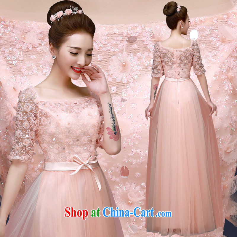 A good service is 2015 New Annual Meeting Etiquette moderator Evening Dress Bridal Fashion wedding ceremony long serving toast pink XL