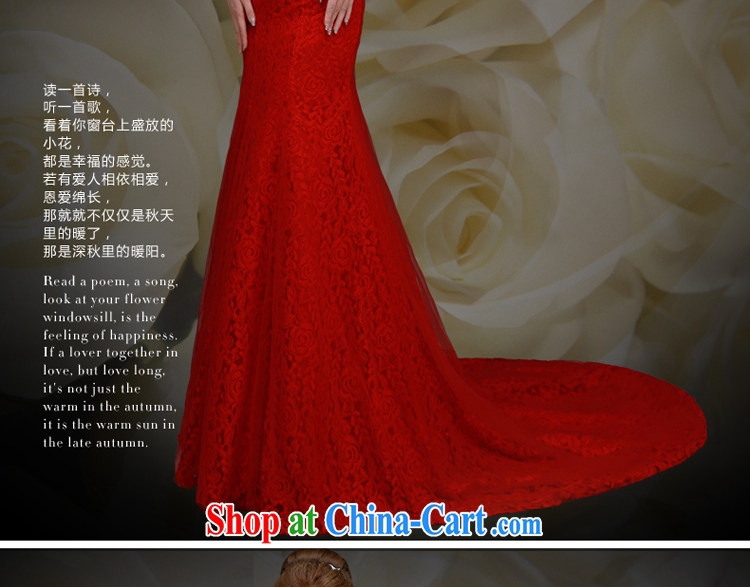 A good service is 2015 spring and fall new bride wedding banquet annual meeting moderator long-tail dress skirt red XL pictures, price, brand platters! Elections are good character, the national distribution, so why buy now enjoy more preferential! Health