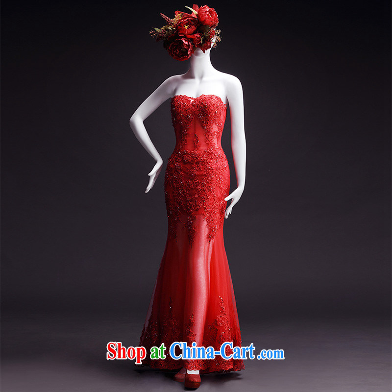 Full court, new wedding dresses new 2015 spring wipe chest tail tied with a red bridal crowsfoot wedding butterfly knot shawl, 173 - M