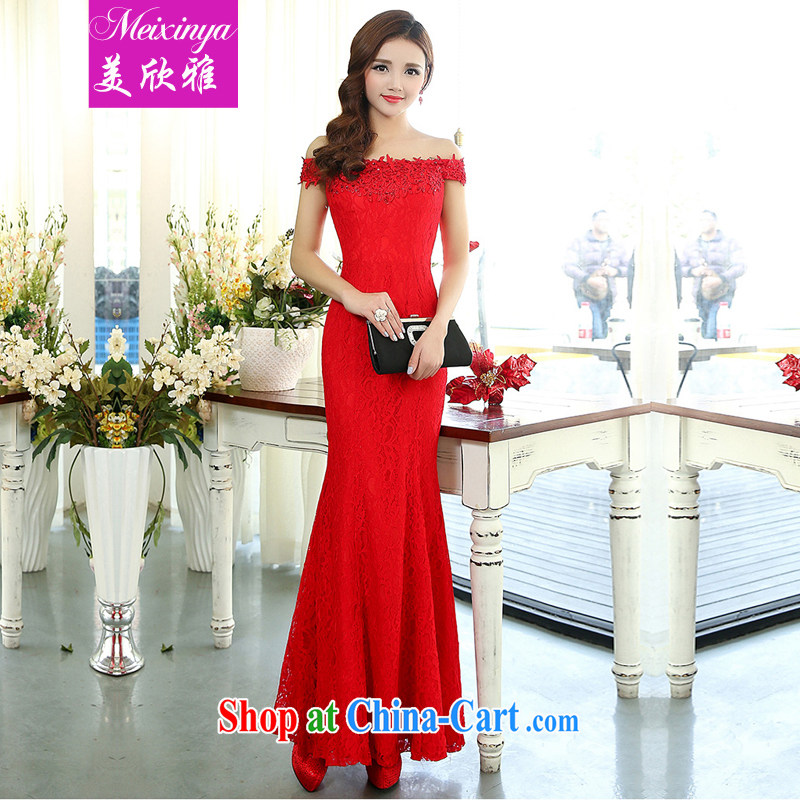 and the United States welcomes 2015 Jacob's spring and summer sleeveless wedding dress support banquet show Service Bridal down liquor service 1515 red XL