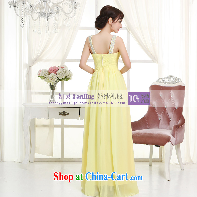 The Spirit_YL 2014 new bride wedding dresses Evening Dress toast serving long - 14,042 light yellow XXXXL