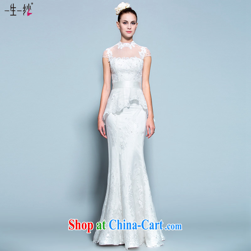 A yarn wedding dresses women 2015 new, the collar lace lace ...