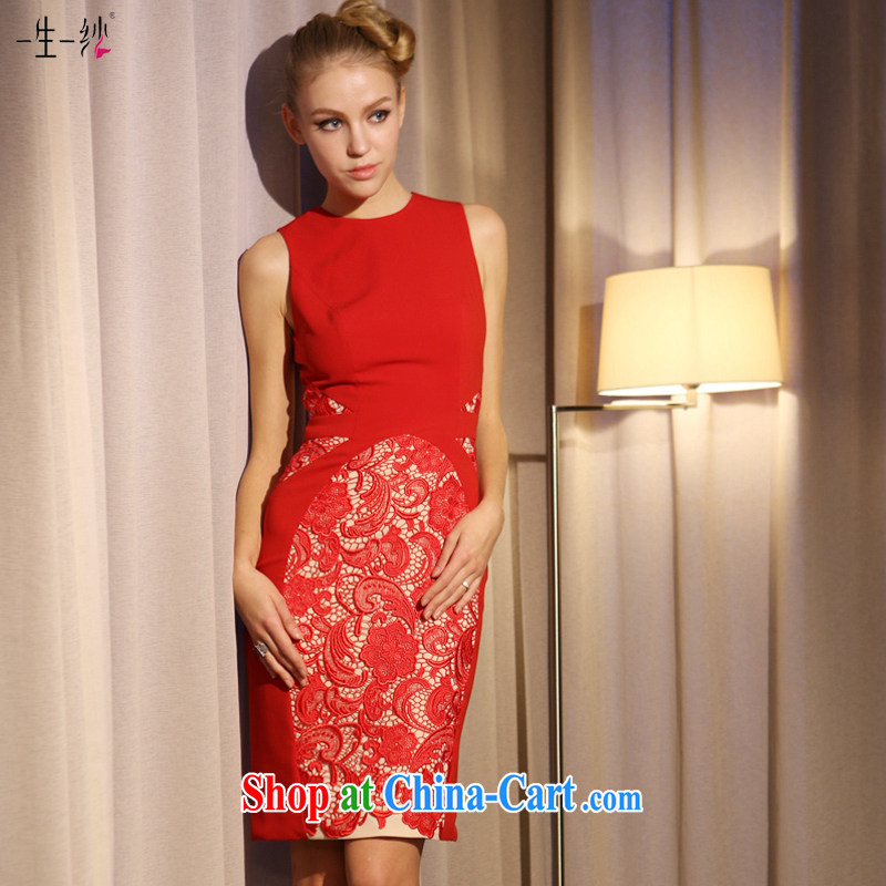 A yarn wedding dresses new lace lace short skirt dress toast clothing dresses 2015 new 30230852 red L code in stock 165 /88 A