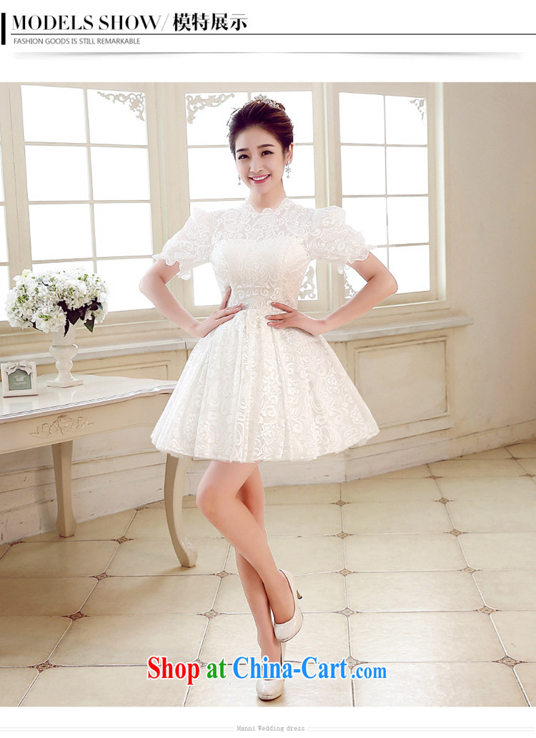 Syria Time bridesmaid dresses small wedding stylish wedding dress short white personal photo album graduation artistic M pictures, price, brand platters! Elections are good character, the national distribution, so why buy now enjoy more preferential! Health