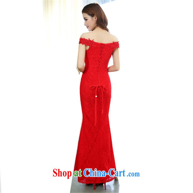 (The 2015 new women dress with a shoulder sleeveless-waist long dresses the wedding dress Evening Dress wedding dress red XL, Lam, COLINCOS), and, on-line shopping