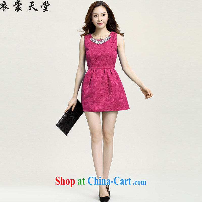 Yi Contact Feed spring 2015 new small Hong Kong Wind girls dresses bridesmaid dress of Yuan, the dress code the princess dress 5828 rose red XXL