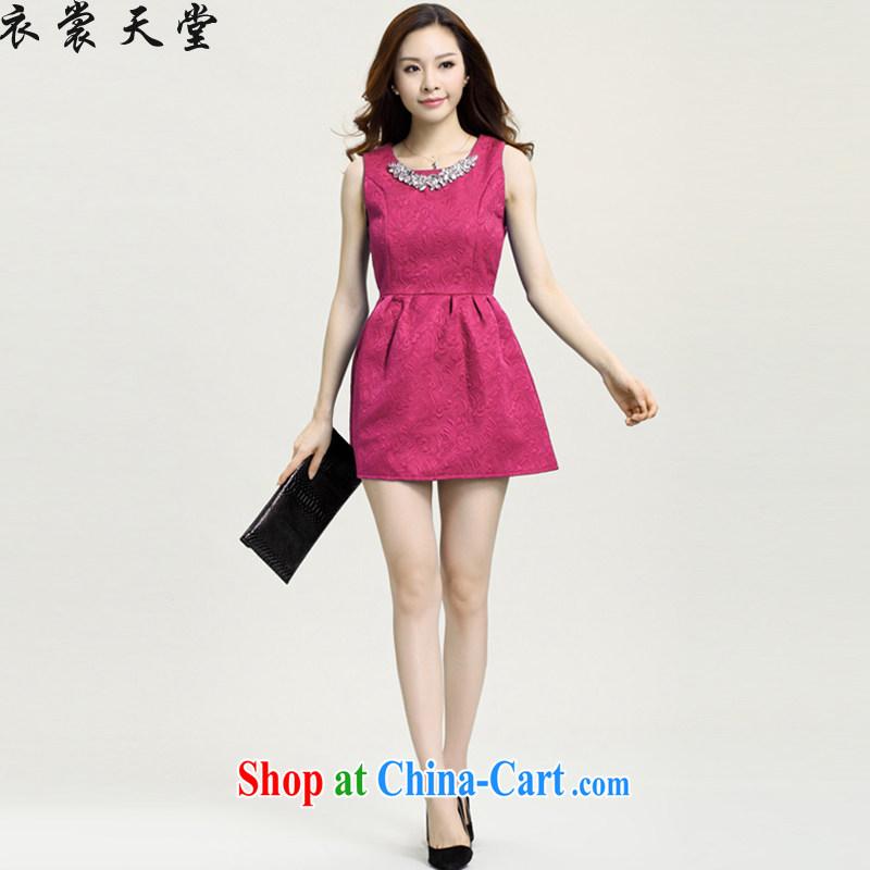 Yi Contact Feed spring 2015 new small Hong Kong Wind girls dresses bridesmaid dress of Yuan, the dress code the princess dress 5828 rose red XXL