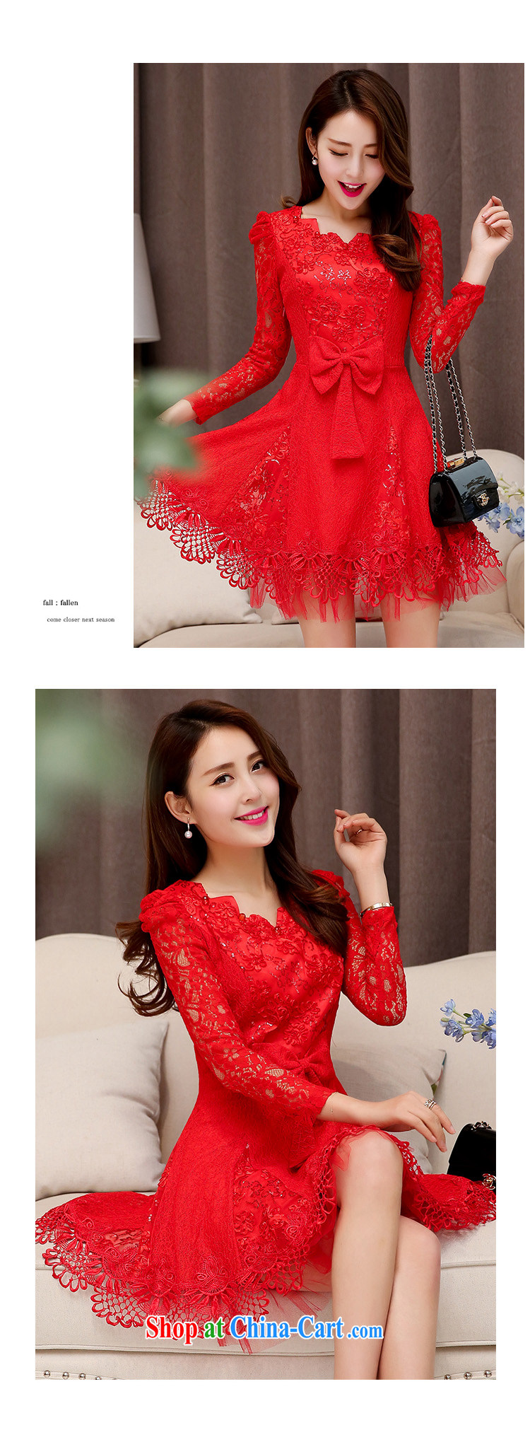Cayman commercial silk dresses, dresses 2015 spring Korean fashion style red bridal wedding dress back door toast bridesmaid dress dresses red XXL pictures, price, brand platters! Elections are good character, the national distribution, so why buy now enjoy more preferential! Health