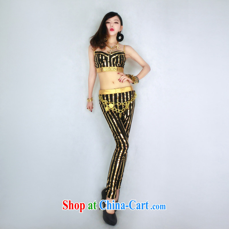 Dance to hip hop Night Bar DS costumes sexy singer dancer clothing DJ jazz costumes stage costumes picture color long S small code