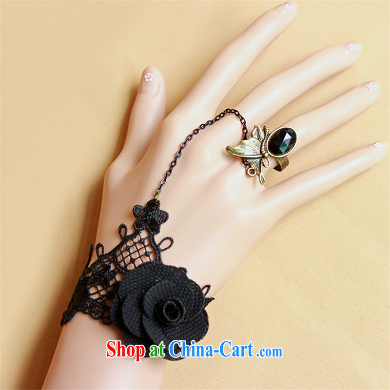 Han Park (cchappiness) Korean fashion ladies black lace rose Hand ...