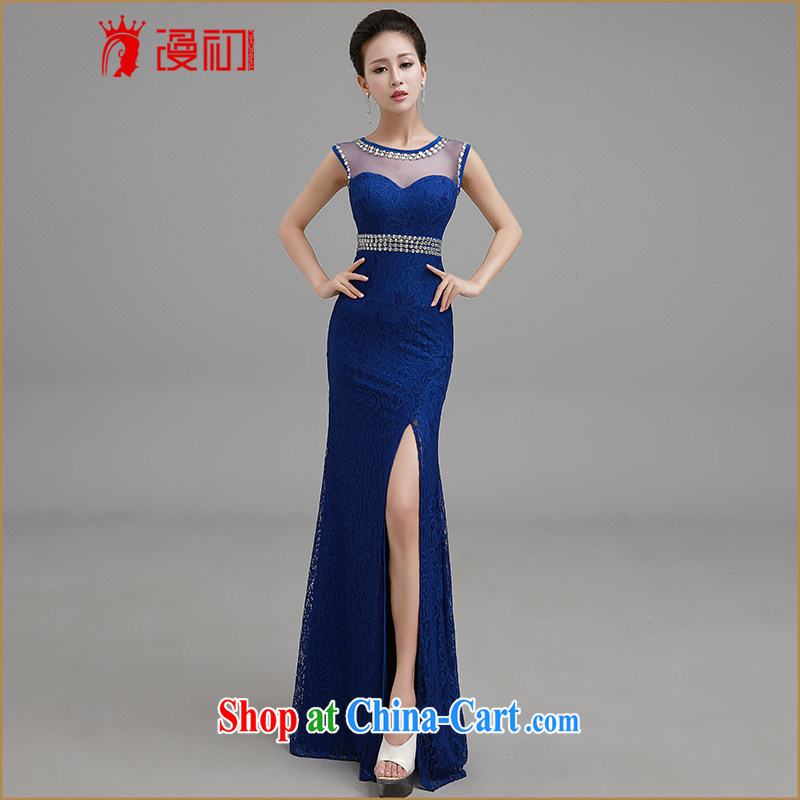 Early definition 2015 new wedding dresses long dresses, bride wedding toast clothing lace the evening dress Blue. Contact customer service