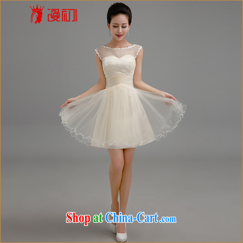 Definition 2015 early New short red dress bridal toast Service Advanced lace straps bridesmaid serving short skirt champagne color. contact Customer Service