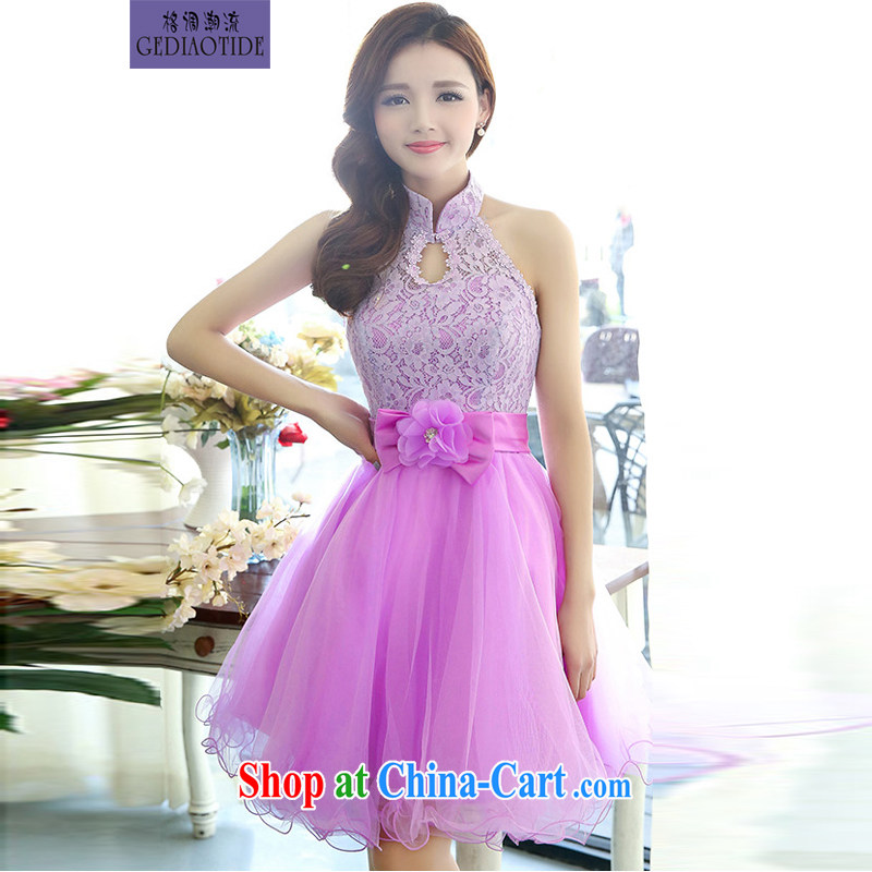 Style trends 2015 spring female small dress wedding bridesmaid dress bridal dress uniform toast wedding dresses girls purple XL
