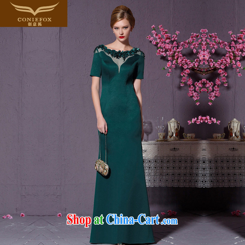 Creative Fox Evening Dress 2015 advanced custom dresses the annual banquet dress for women evening dress high waist dress beauty fall dress 82,213 custom paragraph does not support return