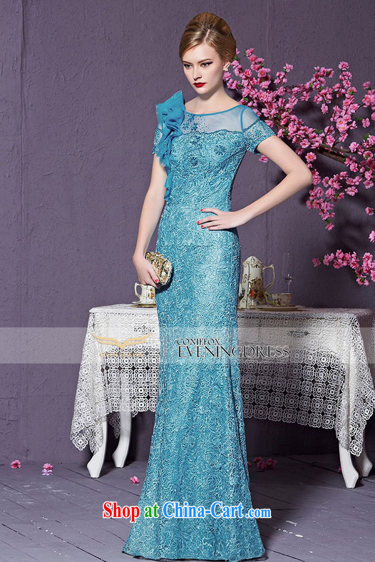 Creative Fox 2015 new high-end dress custom blue dress long dress Banquet Exhibition dress model dress Car Show dress 82,228 custom, does not support return pictures, price, brand platters! Elections are good character, the national distribution, so why buy now enjoy more preferential! Health