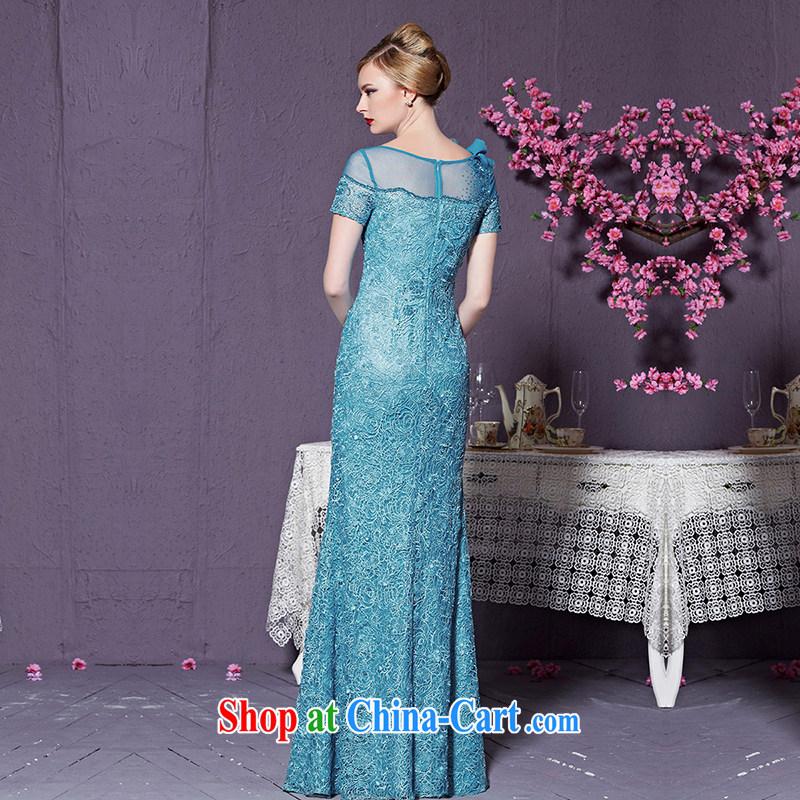 Creative Fox 2015 new high-end dress custom blue dress long dress Banquet Exhibition dress model dress Car Show dress 82,228 custom, does not support return to creative Fox (coniefox), online shopping