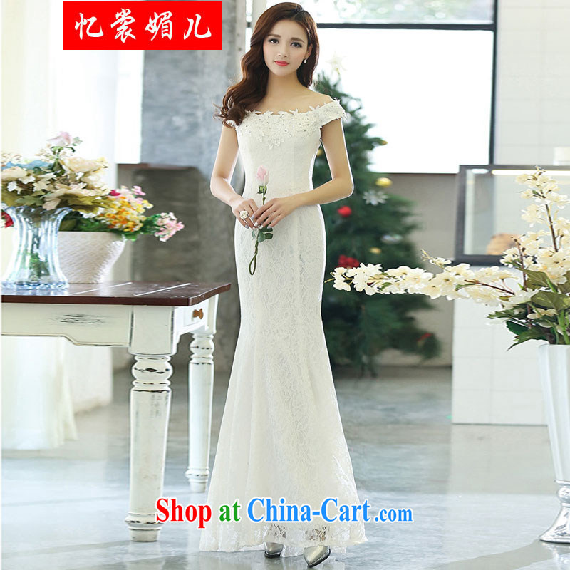 Recalling that Advisory Committee's spring 2015 new sleeveless dresses wedding party dress 1515 white XL