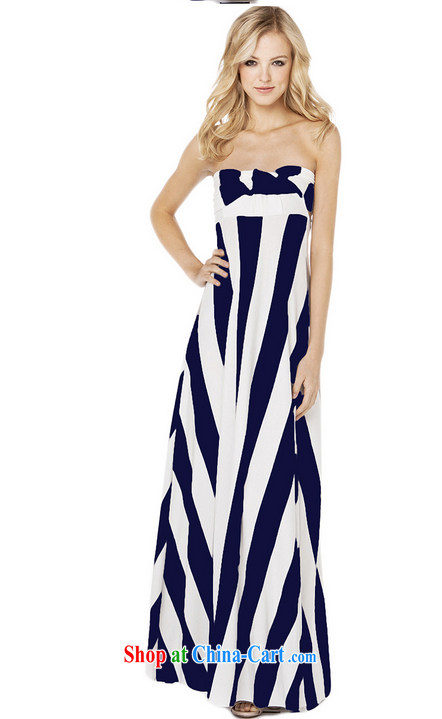 Ryan, 2015 spring and summer new Europe-wide stripes dress Night Sense of dress code, drag and drop long skirt dresses the Yi 3 wearing a dark blue stripe, pictures, price, brand platters! Elections are good character, the national distribution, so why buy now enjoy more preferential! Health