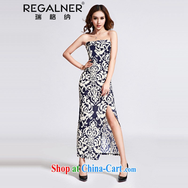 Ryan, 2015 Summer winds in Europe and America dresses wrapped chest long skirt high on the truck package and beauty dress with belt picture color code