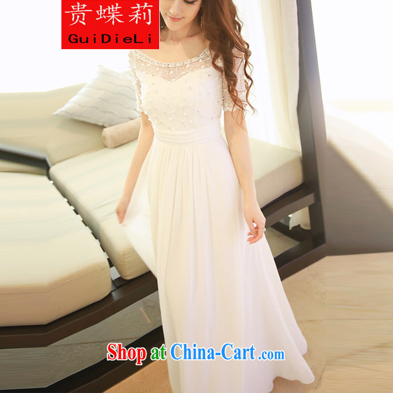 The butterfly Li 2015 white lace snow woven dresses nails Pearl bohemian long skirt video thin resort beach Long skirts Sin white are code