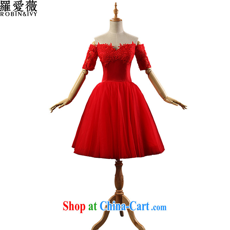 Love, Ms Audrey EU Yuet-mee, RobinIvy) 2015 new bride toast clothing bridesmaid serving short small dress red wedding dress female L 34,590 red tailored