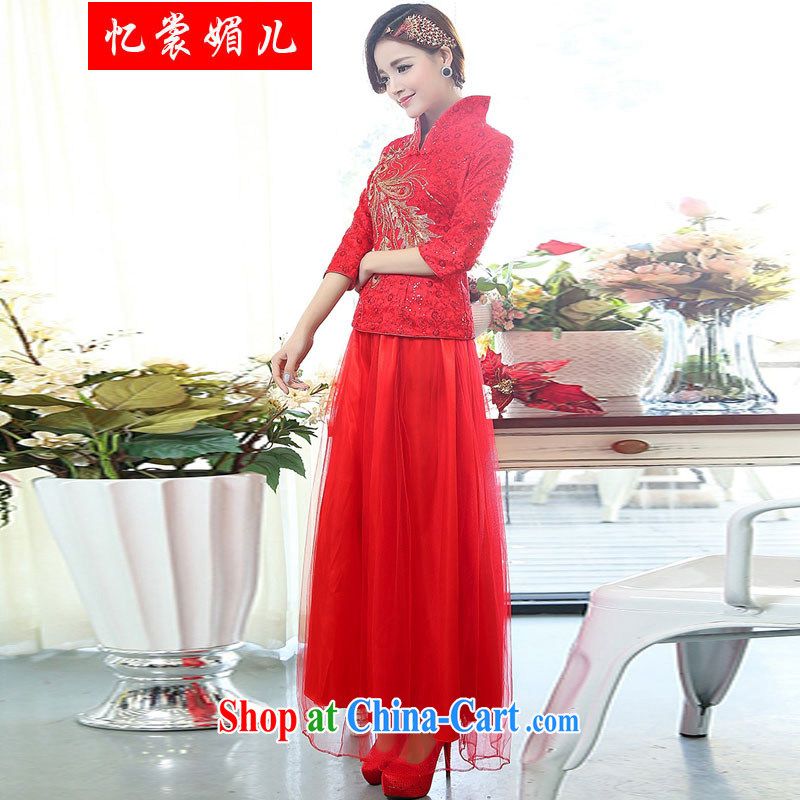 Recalling that Advisory Committee's 2015 spring new bride bridesmaid two-piece dress 1507 red XXXL