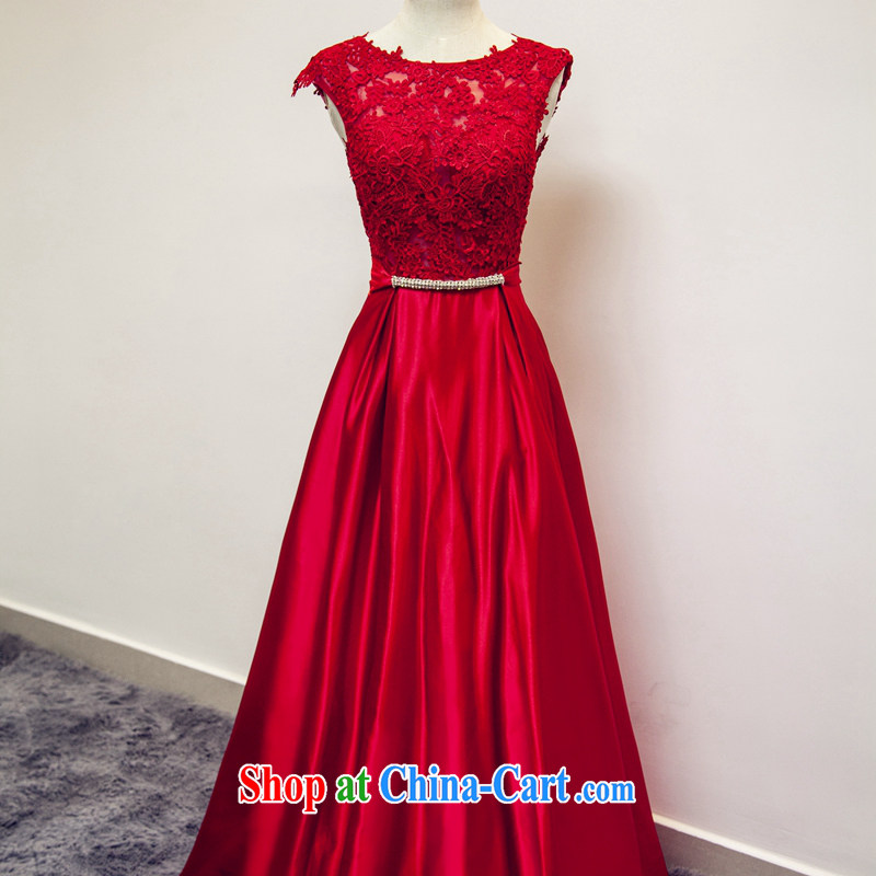 Art 100 Su-ge 2015 new dress uniform toast the Evening Dress bridal wedding wedding banquet red long dual-shoulder-neck back exposed stylish Korean spring red custom + _30