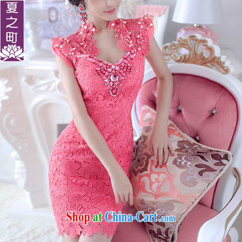 Summer in new towns, manually insert drill dress Lace Embroidery package and dresses X M 5008