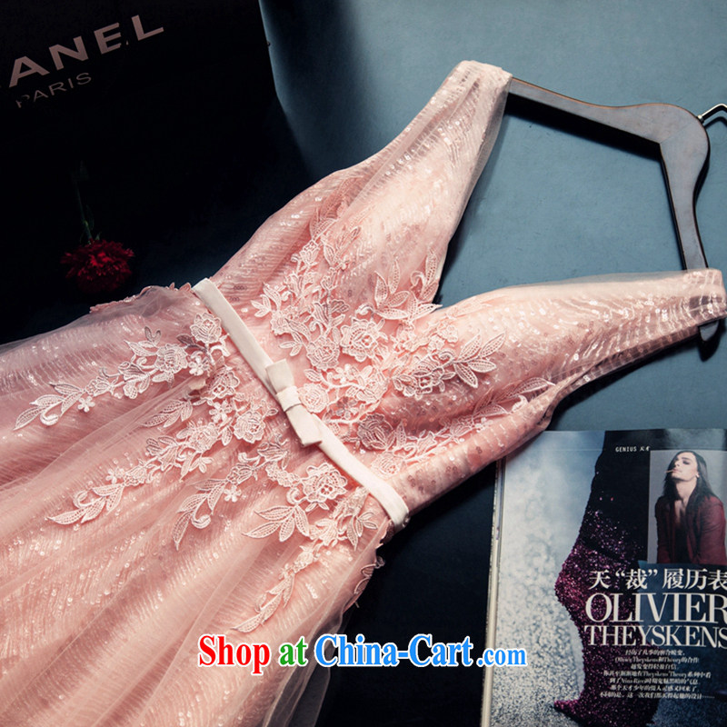 Art 100 Su Ge 2015 spring new wedding dresses Korean V collar marriages bows banquet long evening dress tail pink custom + $30